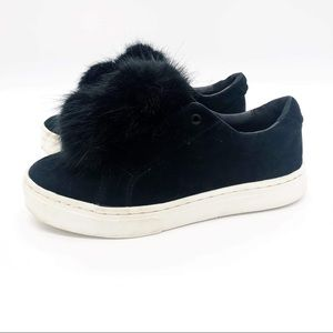 Sam Edelman Black Sneakers Puff Ball Slip Ons Leya